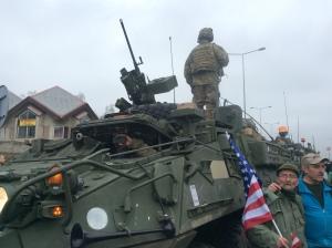 US Flag, US troops, Nachod NATO Poland Czech Republic