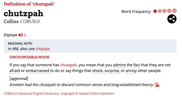 ChutzpahDefinition